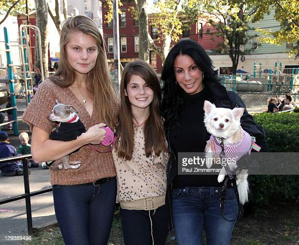 Christine Staub Danielle Staub and Jillian Staub attend the 2011 Bark In The Park charity walk at Church Square Park on October 16 2011 in Hoboken...