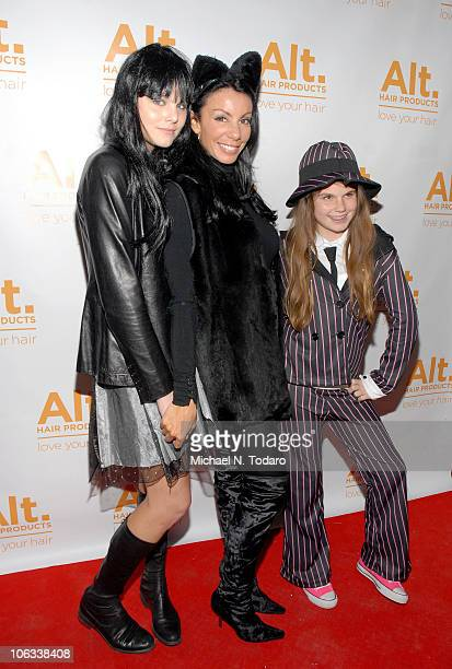 Christine Staub Danielle Staub and Jillian Staub attend the Halloween Disco Ball at Eric Alt Salon on October 28 2010 in WoodRidge New Jersey