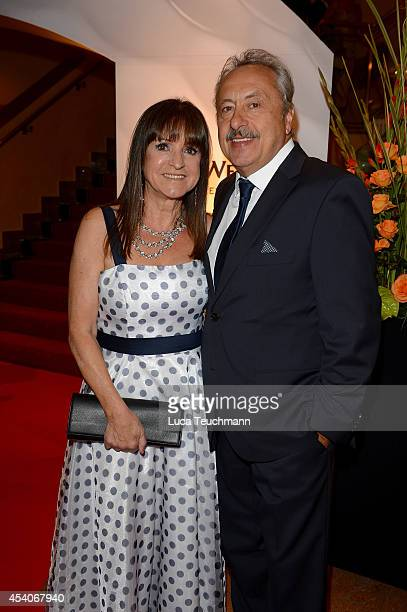 Christine Stumph and Wolfgang Stumph attend the 7th GRK Golf Charity Masters Leipzig gala at The Westin Leipzig on August 23, 2014 in Leipzig,...