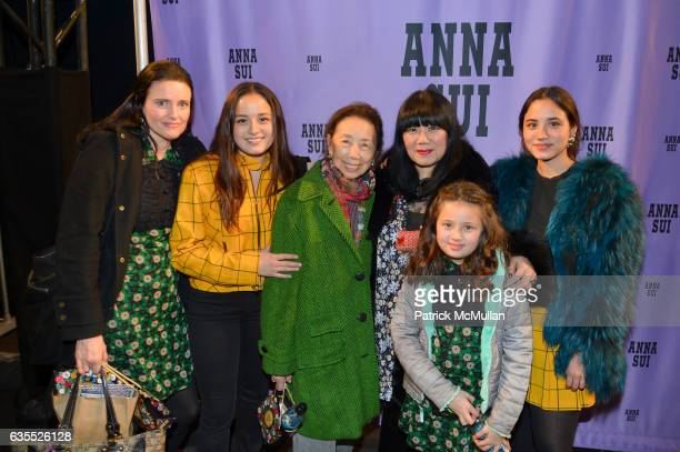 Christine Sui Chase Sui Guest Anna Sui Grace Sui and Jeannie Sui at Anna Sui Fall/Winter 2017 Show during New York Fashion Week The Shows on February...