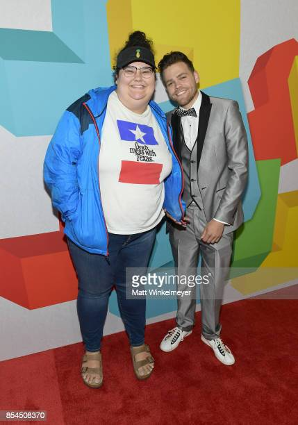 Christine Sydelko and Elijah Daniel at the 2017 Streamy Awards at The Beverly Hilton Hotel on September 26 2017 in Beverly Hills California