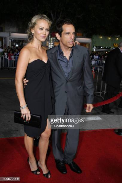 "Christine Taylor and Ben Stiller at the premiere of ""The Heartbreak Kid"" at Mann's Village Theater on September 27, 2007 in Westwood, California."