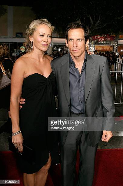 """Christine Taylor and Ben Stiller at the premiere of """"The Heartbreak Kid"""" at Mann's Village Theater on September 27, 2007 in Westwood, California."""