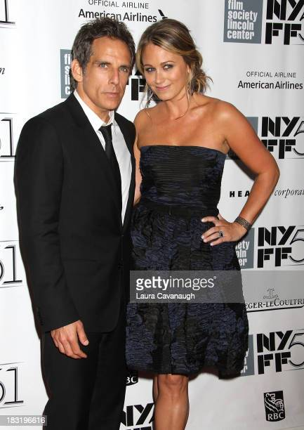 Christine Taylor and Ben Stiller attend the Centerpiece Gala Presentation Of 'The Secret Life Of Walter Mitty' during the 51st New York Film Festival...