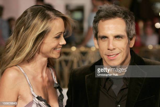 Christine Taylor and Ben Stiller during Meet the Fockers Los Angeles Premiere at Universal Amphitheatre in Universal City California United States