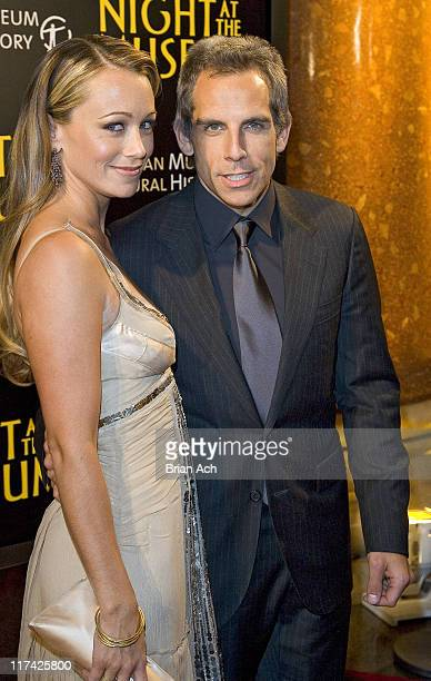 "Christine Taylor and Ben Stiller during ""Night at the Museum"" New York City Premiere - Red Carpet and After Party at The American Museum of Natural..."