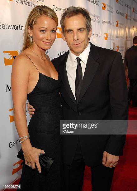 """Christine Taylor and Ben Stiller during The Andre Agassi Charitable Foundation's 11th Annual """"Grand Slam for Children"""" Fundraiser - Red Carpet at MGM..."""