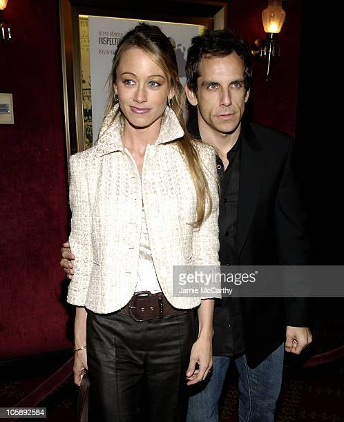 "Christine Taylor and Ben Stiller during ""The Pink Panther"" World Premiere - Inside Arrivals at Ziegfeld Theater in New York City, New York, United..."