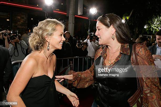 """Christine Taylor and Camryn Manheim at the premiere of """"The Heartbreak Kid"""" at Mann's Village Theater on September 27, 2007 in Westwood, California."""