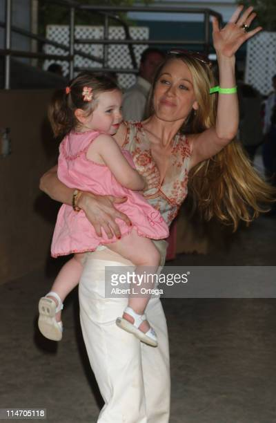 Christine Taylor and daughter Ella during The 14th Annual Wells Fargo William Shatner Hollywood Charity Horse Show at The Los Angeles Equestrian...