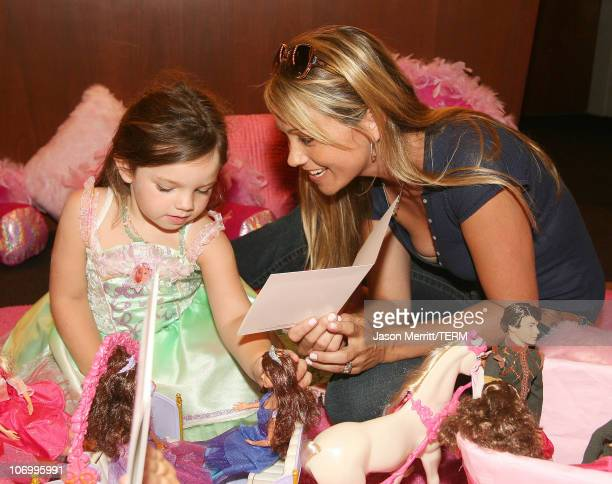 Christine Taylor and daughter Ella Olivia *exclusive*