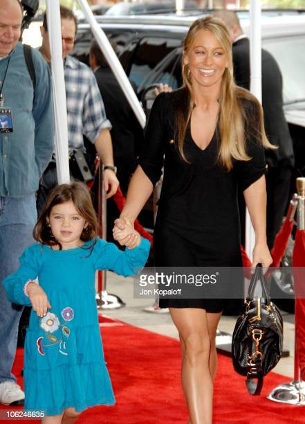 "Christine Taylor and daughter Ella Olivia Stiller during ""Charlotte's Web"" Los Angeles Premiere - Arrivals at ArcLight Theatre in Hollywood,..."