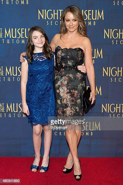 Christine Taylor and daughter Ella Stiller attend the Night At The Museum Secret Of The Tomb New York Premiere at the Ziegfeld Theater on December 11...