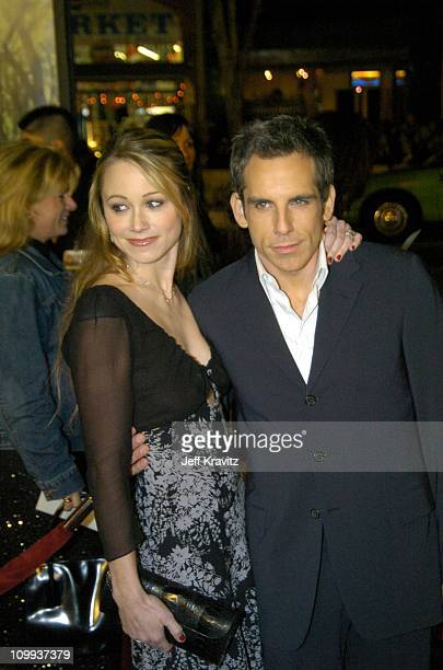 Christine Taylor and husband Ben Stiller during Along Came Polly Los Angeles Premiere at Mann's Chinese Theater in Hollywood California United States