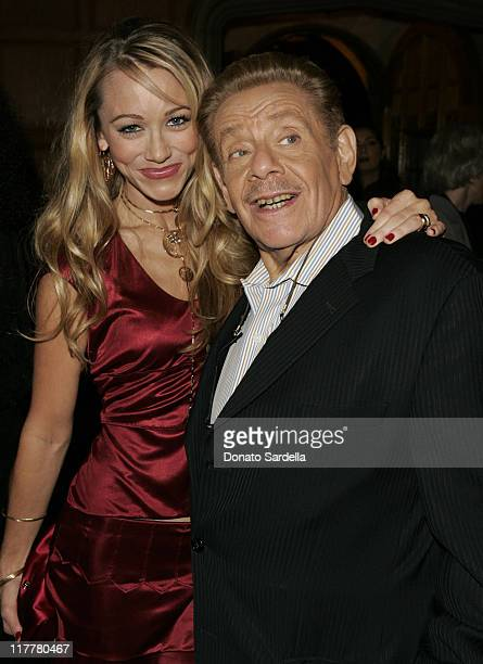 "Christine Taylor and Jerry Stiller during Ben Stiller and Christine Taylor Host a Grand Classics Screening of ""Sweet Smell of Success"" with YSL at..."