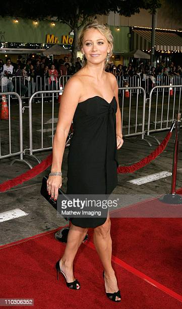 """Christine Taylor at the premiere of """"The Heartbreak Kid"""" at Mann's Village Theater on September 27, 2007 in Westwood, California."""