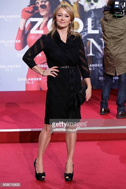 Christine Taylor attends the Berlin fan screening of the film 'Zoolander No 2' at CineStar on February 2 2016 in Berlin Germany