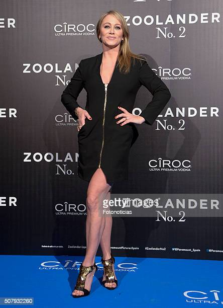 Christine Taylor attends the Madrid Fan Screening of the Paramount Pictures film 'Zoolander No 2' at the Capitol Cinema on February 1 2016 in Madrid...