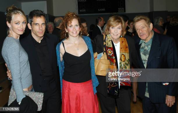 Christine Taylor, Ben Stiller, Amy Stiller, Anne Meara and Jerry Stiller