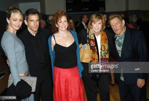 Christine Taylor Ben Stiller Amy Stiller Anne Meara and Jerry Stiller
