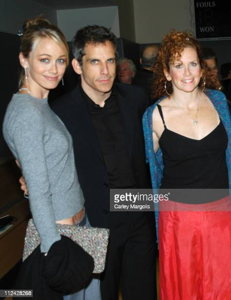 Christine Taylor, Ben Stiller and Amy Stiller during Calhoun School Benefit Gala to Celebrate Opening of Performing Arts Center at Calhoun School in...