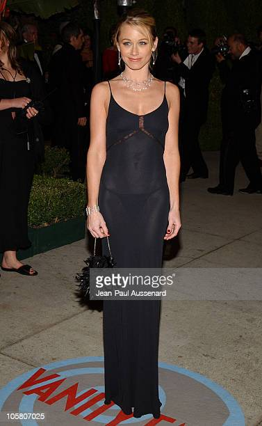 Christine Taylor during 2004 Vanity Fair Oscar Party Arrivals at Mortons in Beverly Hills California United States