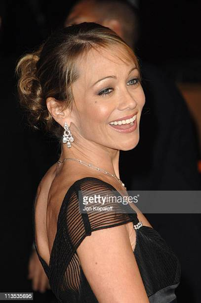 Christine Taylor during 2006 Vanity Fair Oscar Party at Morton's in West Hollywood, California, United States.