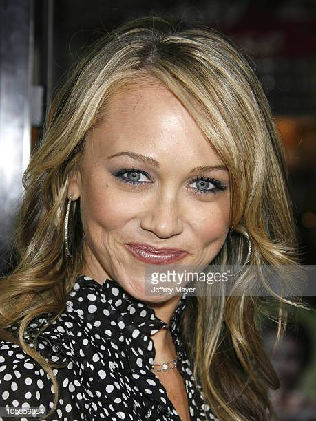 Christine Taylor during Knocked Up Los Angeles Premiere Arrivals at Mann Village Theatre in Westwood California United States