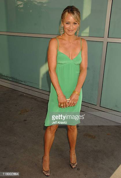 Christine Taylor during 'License To Wed' Los Angeles Premiere Red Carpet at Cinerama Dome in Hollywood California United States