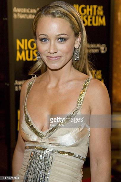 Christine Taylor during Night at the Museum New York City Premiere Red Carpet and After Party at The American Museum of Natural History in New York...
