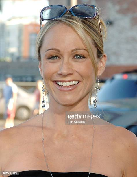 Christine Taylor during Wicked Los Angeles Opening Night Arrivals at Pantages Theatre in Hollywood California United States