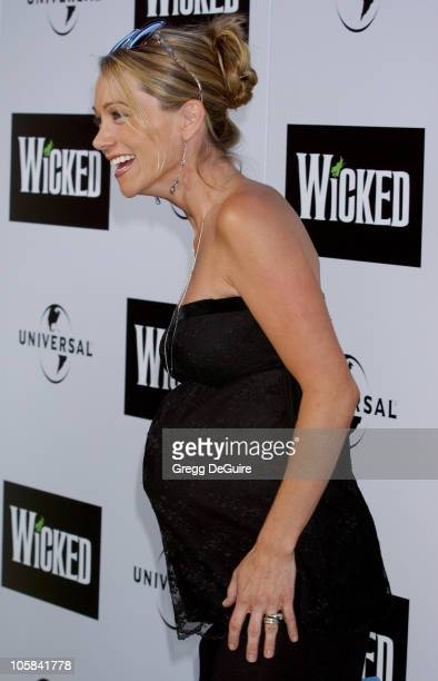"""Christine Taylor during """"Wicked"""" Los Angeles Opening Night - Arrivals at The Pantages Theatres in Los Angeles, California, United States."""
