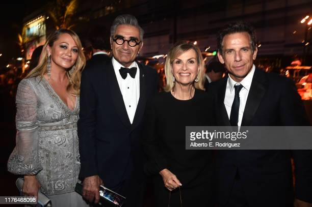 Christine Taylor, Eugene Levy, Deborah Divine and Ben Stiller attend the Governors Ball during the 71st Emmy Awards at L.A. Live Event Deck on...