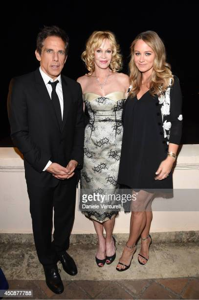 Christine Taylor Melanie Griffith and Ben Stiller attend the 60th Taormina Film Fest on June 19 2014 in Taormina Italy