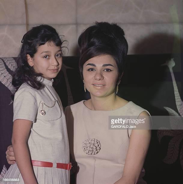 Christine Trouve And Shabanou Farah Diba Empress Of Iran En 1963 en Iran portrait de l'impératrice Farah DIBA en robe claire coiffée d'un chignon...