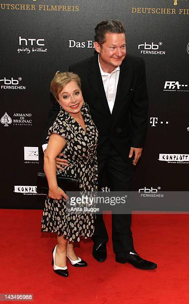 Christine Urspruch and her husband Tobias Materna attend the Lola German Film Award 2012 at FriedrichstadtPalast on April 27 2012 in Berlin Germany