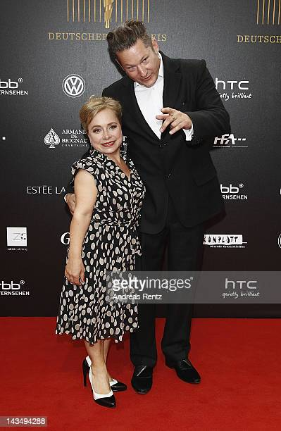 Christine Urspruch and Tobias Materna attend the Lola German Film Award 2012 at FriedrichstadtPalast on April 27 2012 in Berlin Germany