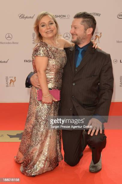 Christine Urspruch and Tobias Materna attends the Bambi Awards 2013 at Stage Theater on November 14 2013 in Berlin Germany
