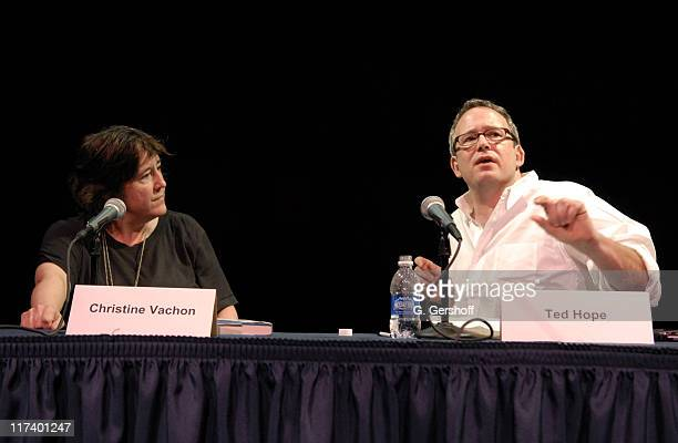 """Christine Vachon and Ted Hope during 14th Annual Hamptons International Film Festival - """"A Killer Life"""" Panel with Christine Vachon and Ted Hope at..."""