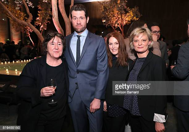 Christine Vachon Billy Eichner Julianne Moore and Martha Plimpton attend The Hollywood Reporter's 5th Annual 35 Most Powerful People in New York...