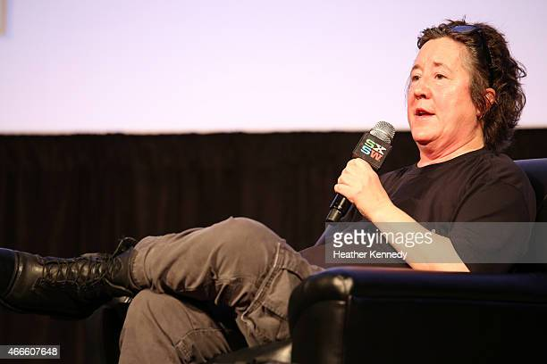 Christine Vachon Executive Producer of Killer Films speaks onstage at the 'Christine Vachon Keynote' during the 2015 SXSW Music Film Interactive...