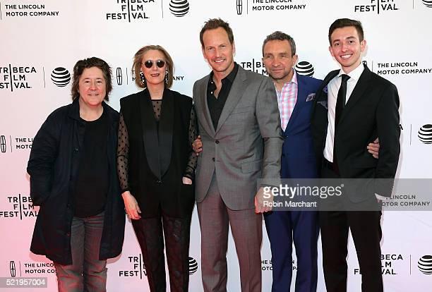 Christine Vachon Susan Boyd Patrick Wilson Eddie Marsan and Radek Lord attend 'A Kind of Murder' premiere during 2016 Tribeca Film Festival at SVA...