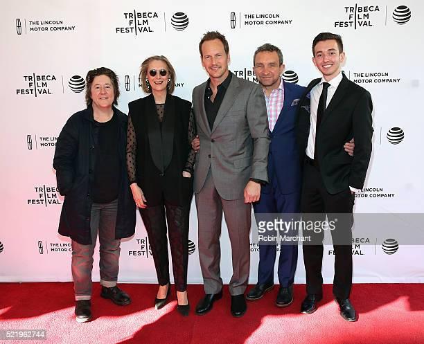 Christine Vachon Susan Boyd Patrick Wilson Eddie Marsan and Radek Lord attend A Kind of Murder premiere during 2016 Tribeca Film Festival at SVA...