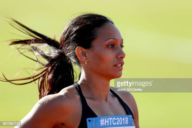Christine Wearne competes in the womens 100m during the Hunter Track Classic on January 20 2018 in Newcastle Australia