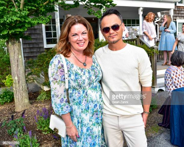 Christine Weinberg and Thuyen Nguyen attend ARF Thrift Shop Designer Show House Sale at ARF Thrift Treasure Shop on May 26 2018 in Sagaponack New York