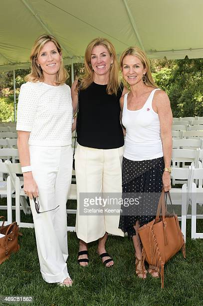 Christine Weller Janna Kohl and Crystal Lourd attend HEART Brunch featuring Stella McCartney on April 10 2015 in Los Angeles California