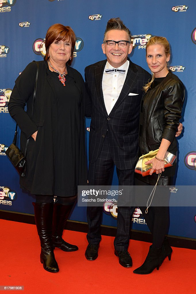 Christine Westermann, Goetz Alsmann and guest attend the 20th Annual German Comedy Awards at Coloneum on October 25, 2016 in Cologne, Germany.