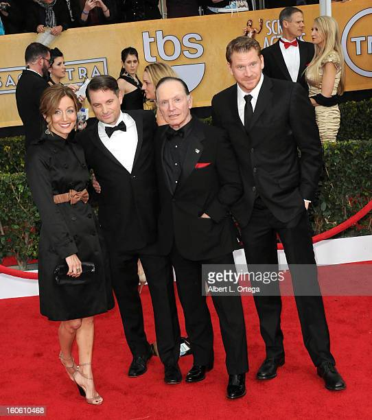 Christine Whigham actor Shea Whigham actor Paul Herman and actor Dash Mihok arrive for the 19th Annual Screen Actors Guild Awards Arrivals held at...
