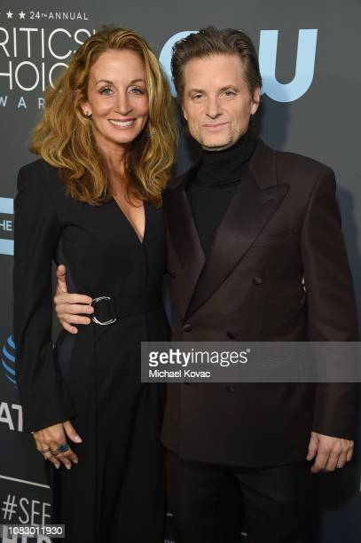 Christine Whigham and Shea Whigham attend the 24th annual Critics' Choice Awards at Barker Hangar on January 13 2019 in Santa Monica California
