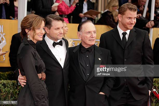 Christine Whigham Shea Whigham Paul Herman and Dash Mihok arrive at the19th Annual Screen Actors Guild Awards held at The Shrine Auditorium on...